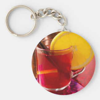 Fruit mulled wine with cinnamon and orange key ring