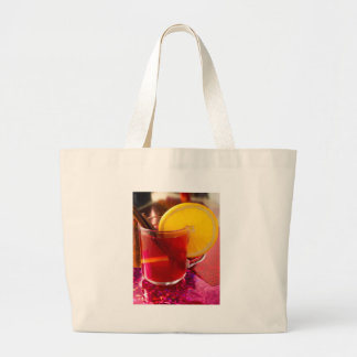 Fruit mulled wine with cinnamon and orange large tote bag