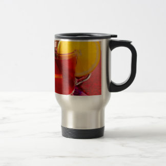 Fruit mulled wine with cinnamon and orange travel mug