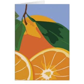 Fruit Note Card - Oranges
