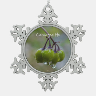 Fruit of Clarity Snowflake Pewter Christmas Ornament