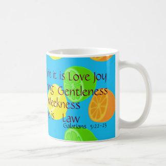Fruit of spirit is love joy ♡ Galatians 5:22-23 Coffee Mug