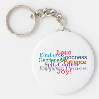 Fruit of the Spirit Basic Round Button Key Ring
