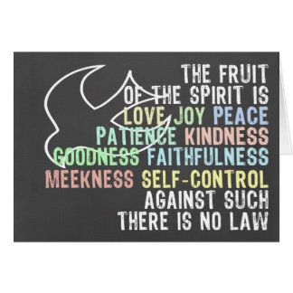 Fruit of the Spirit Chalkboard Look Bible Verse Card