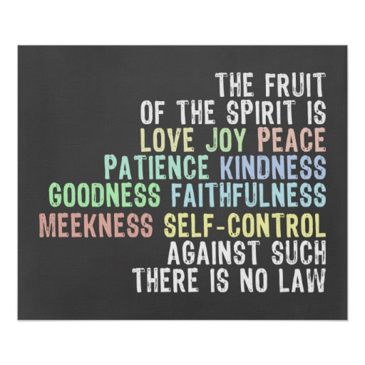 Fruit of the Spirit Chalkboard Look Bible Verse Posters