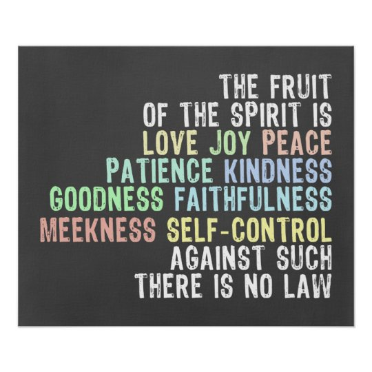 Fruit of the Spirit Chalkboard Look Bible Verse Poster