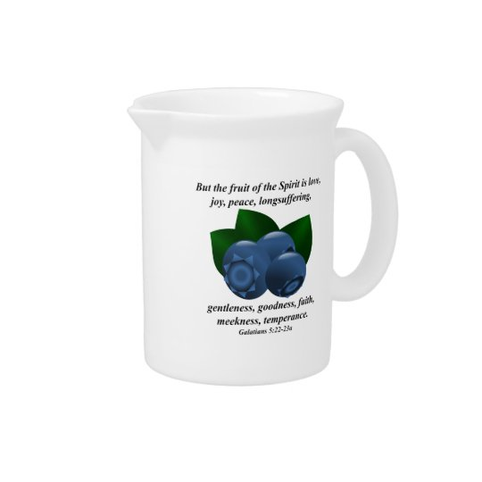 Fruit of the Spirit Maine Blueberry Bible Verse Pitchers