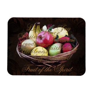 Fruit of the Spirit, Painted Brown Basket Vinyl Magnet