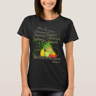 Fruit of the Spirit, Pretty Script Dark Women's T-Shirt