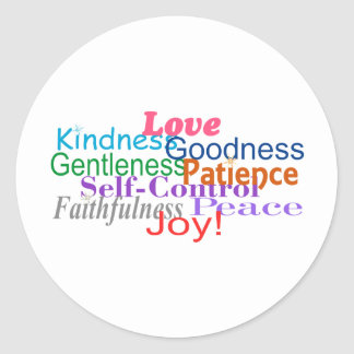 Fruit of the Spirit Round Sticker