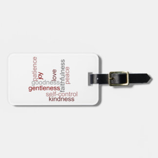Fruit of the Spirit Word Art Luggage Tag