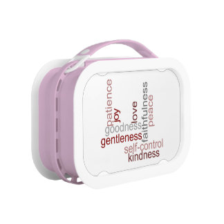 Fruit of the Spirit Word Art Lunchboxes