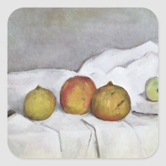 Fruit on a Cloth, c.1890 Square Stickers