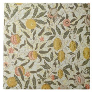 Fruit or Pomegranate wallpaper design Large Square Tile