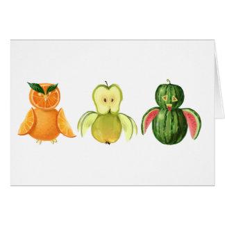 Fruit owls card