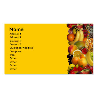 Fruit Pack Of Standard Business Cards