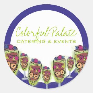 Fruit parfait gift tag kitchen stickers, Colorf... Round Sticker