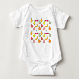 fruit pattern baby bodysuit
