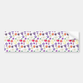 Fruit pattern bumper sticker