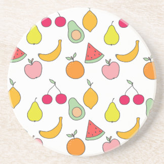 fruit pattern coaster