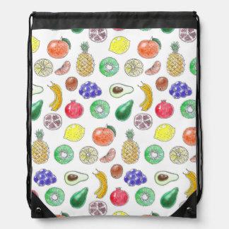Fruit pattern drawstring bag
