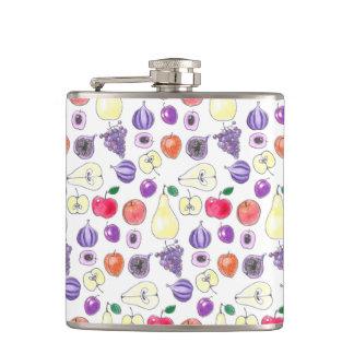 Fruit pattern hip flask