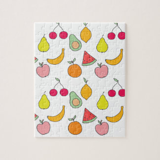 fruit pattern jigsaw puzzle