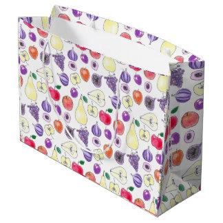 Fruit pattern large gift bag