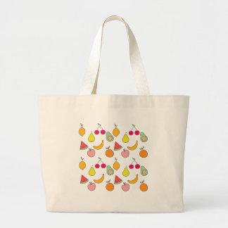 fruit pattern large tote bag