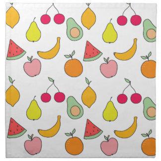 fruit pattern napkin