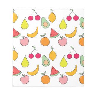 fruit pattern notepad
