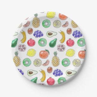 Fruit pattern paper plate
