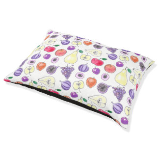 Fruit pattern pet bed