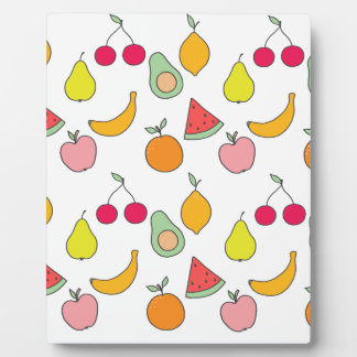 fruit pattern plaque