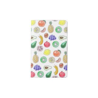 Fruit pattern pocket moleskine notebook