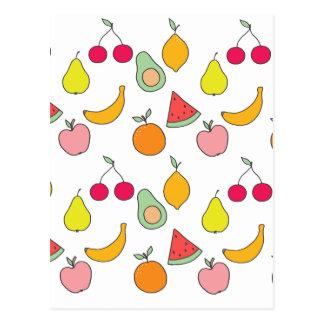 fruit pattern postcard