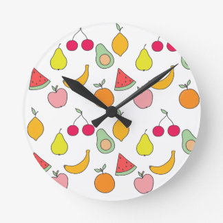 fruit pattern round clock