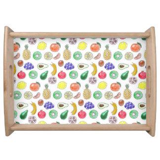 Fruit pattern serving tray