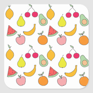 fruit pattern square sticker