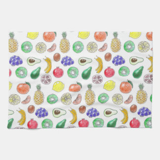 Fruit pattern tea towel