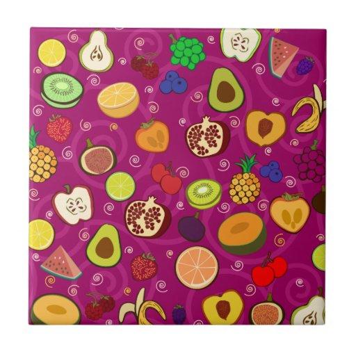 Fruit Pattern Tile
