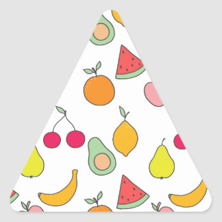 fruit pattern triangle sticker