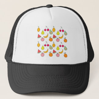 fruit pattern trucker hat