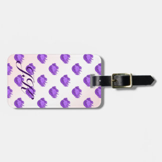 Fruit Patterns Blueberries and Cream Luggage Tag