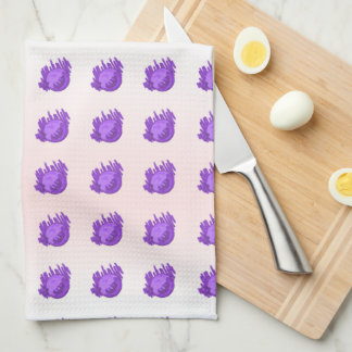 Fruit Patterns Blueberries and Cream Tea Towel
