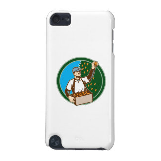 Fruit Picker Worker Picking Plum Circle iPod Touch (5th Generation) Cases