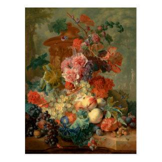 Fruit Piece - Jan van Huysum (1722) Postcard