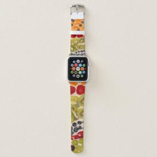 Fruit Pizza Close-Up Photo Apple Watch Band