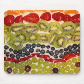 Fruit Pizza Close-up Photo Mouse Pad