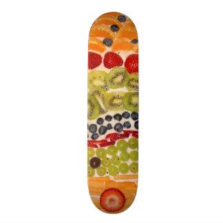 Fruit Pizza Close-Up Photo Skateboard